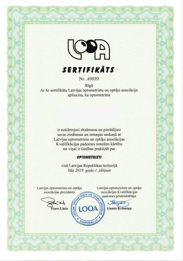 sertifikāts